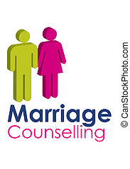 Marriage Counselling - A graphic image representing a male...