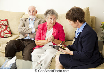 Marriage Counselng - Can You Help Us - Senior couple in...