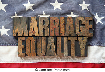 marriage equality on old USA flag