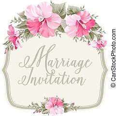 Marriage invitation card.