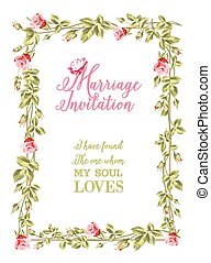 Marriage invitation.
