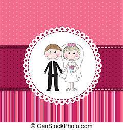 Marriage invitation vector clipart eps images 39607 marriage marriage invitation over pink cute background vector stopboris Gallery