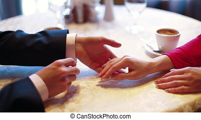 Marriage Proposal in coffee shop - Marriage Proposal in a...