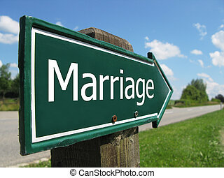 MARRIAGE road sign