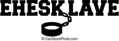 Marriage slave ankle cuff icon