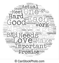 Marriage Word Cloud Concept Text Background