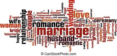 Marriage word cloud concept. Vector illustration