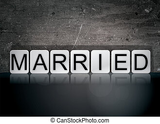 Married Concept Tiled Word