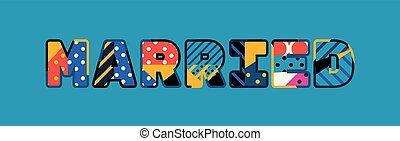 Married Concept Word Art Illustration - The word MARRIED...