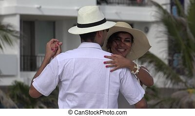 Married Couple Dancing On Vacation