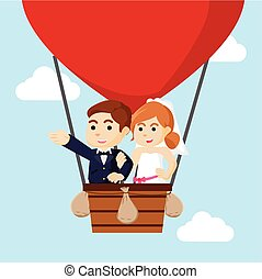 married couple flying with air