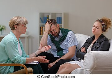 Married couple in separation - Picture of married couple in...