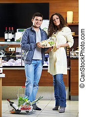 Married couple in shop