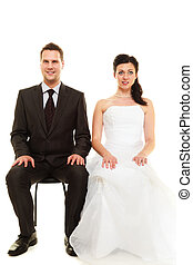 Married couple in wedding day.