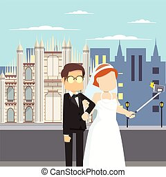 married couple selfie milan