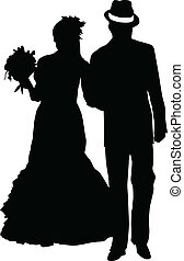 Married Couple - vector illustration