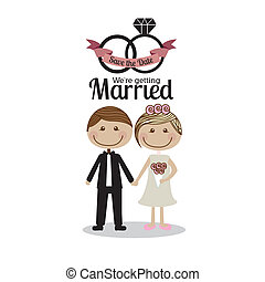 married design over  white  background vector illustration