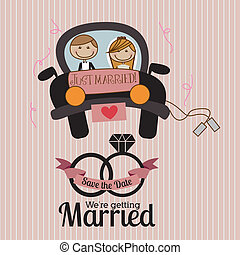 married design over lineal background vector illustration