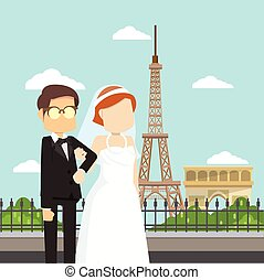 married man and woman in paris