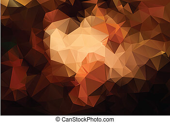 marrom, abstratos, polígono, fundo