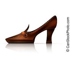 marrom, abstratos, sapato