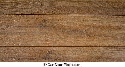 marrom, antigas, parede, panorama, textura, madeira, fundo, vindima