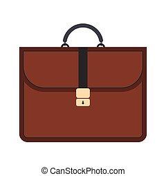 marrom, apartamento, pasta, negócio, ícone