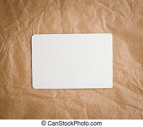 marrom, arte, tag, papel, fundo, em branco, branca