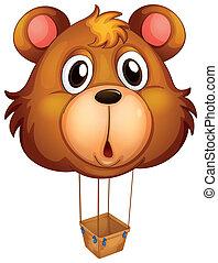 marrom, balloon, urso