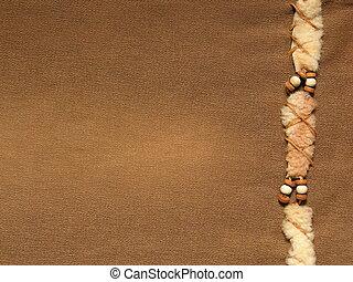 marrom, calças brim, decorati