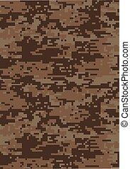 marrom, camuflagem, escuro, textura, fundo, digital, militar