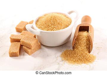 marrom, cana, açúcar