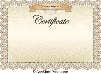 marrom, certificado