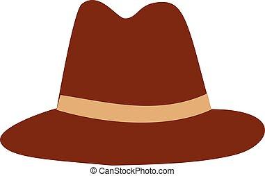 marrom, chapéu