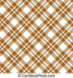 marrom, checkered, tablecloths, padrão, -, infinito