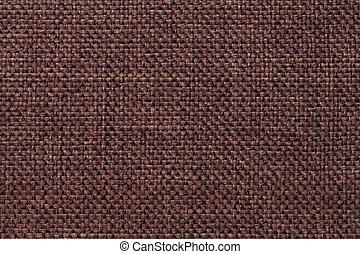 marrom, checkered, tecido, macro., padrão, escuro, têxtil, fundo, estrutura, closeup.
