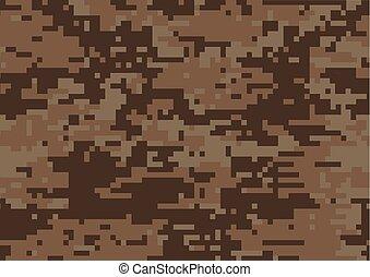 marrom, digital, camuflagem, fundo, textured, militar