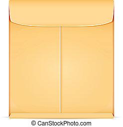marrom, envelope