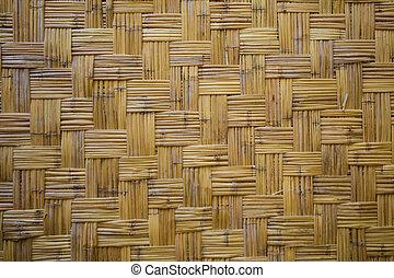 marrom, estilo, artesanato, natureza, padrão, textura, tradicional, superfície, fundo, vime, tailandês, tecer