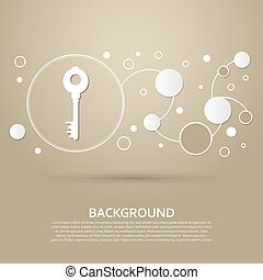 marrom, estilo, fundo, infographic., modernos, elegante, vetorial, desenho, ícone chave