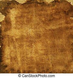 marrom, grunge, coloridos, abstratos, amarela, papel, textura, fundo, ou