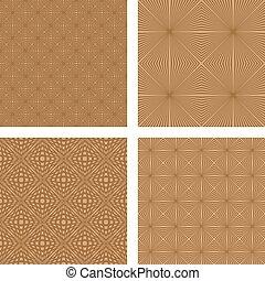 marrom, jogo, padrão, seamless, fundo, luz
