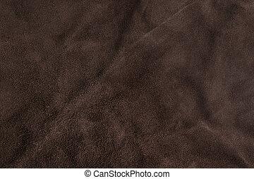 marrom, macio, camurça, textura