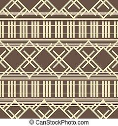marrom, padrão, abstratos, seamless, amarela, lattice, cores