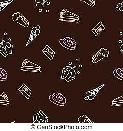 marrom, padrão, doces