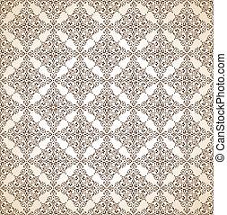 marrom, papel parede, seamless, ornamental