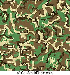marrom, pattern., seamless, amarela, camuflagem, verde