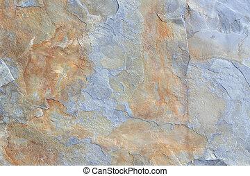 Marrom, pedra, cinzento, textura, xisto, bloco