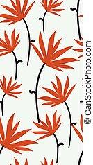 marrom, primitivo, padrão, seamless, escandinavo, outono, vetorial, desenho, floral