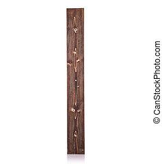 Marrom, quadrado, tiro, isolado, madeira, longo, estúdio,...